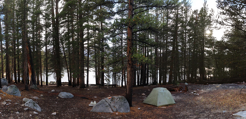 It was cool but still Summer, and the hailstones melted quickly in our campsite at Moraine Lake