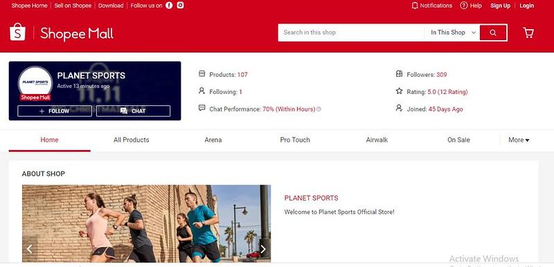 Shopee Planet Sports