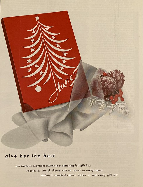 Give Her Hosiery and Pine Cones for Christmas