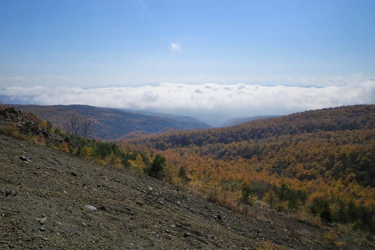 小浅間山登山道から眺める雲海