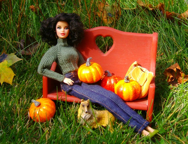 Claire at the pumpkin patch