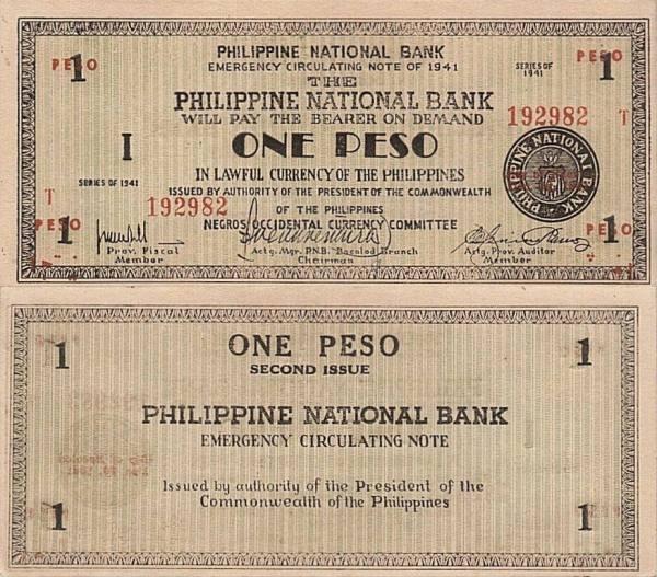 1 Peso Filipíny 1944, S624b