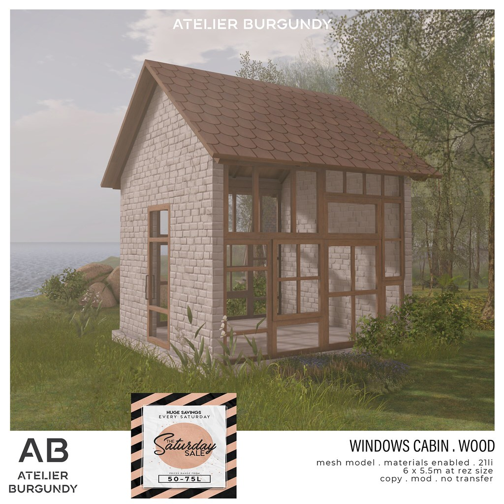 Atelier Burgundy . Windows Cabin Wood