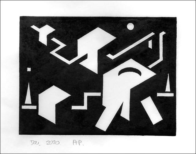 Lino Print, 2020.