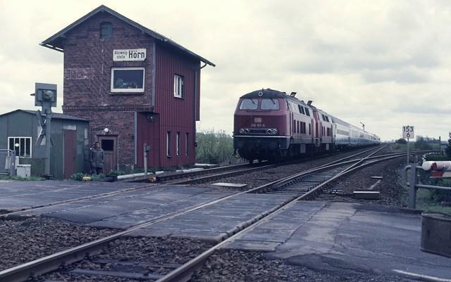 Abzweigstelle Hörn (Noord-Duitsland), dubbeltractie 218