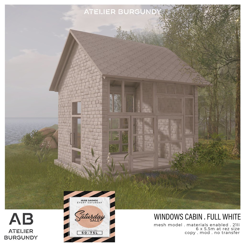Atelier Burgundy . Windows Cabin Full White