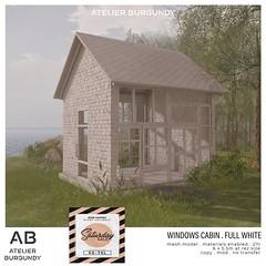 Atelier Burgundy . Windows Cabin Full White