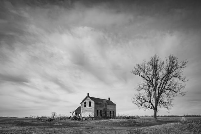 Abandoned Home Monochrome