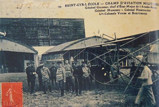 Saint-Cyr-l'École champ d'aviation militaire général Gilinski Gilinsky Manoury Colonel Hirschauer Voyer Bouttieaux Anciens Aérodromes