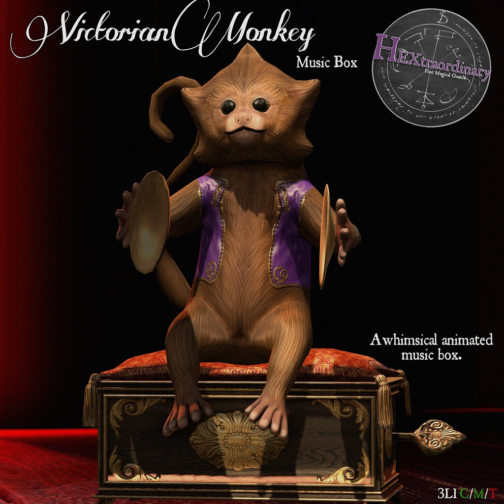 HEXtraordinary – Victorian Monkey Music Box for Enchantment