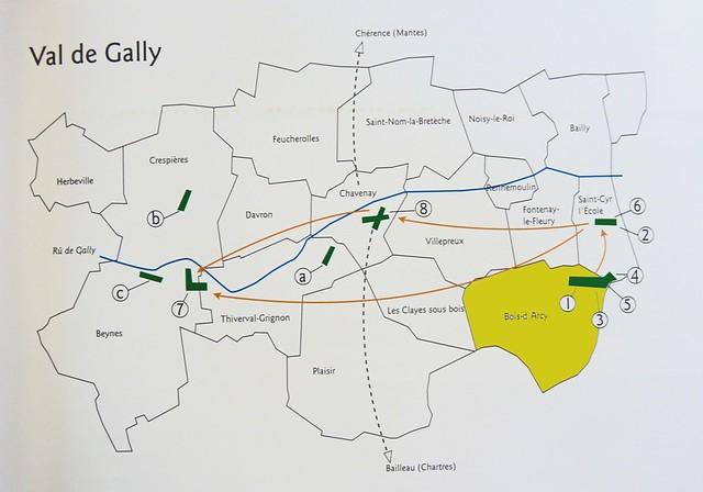 Les hauts de Saint-Cyr-l'École Bois d'Arcy Val-de-Gally carte Anciens Aérodromes