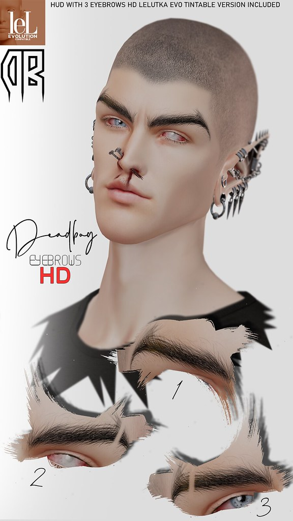 DeadBoy HD Eyebrows Lelutka Evo
