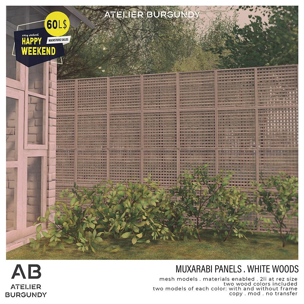 Atelier Burgundy . Muxarabi White Woods HW