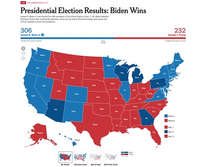Presidential Election Results: 'Biden Wins' -- The New York Times November 13, 2020 at 5 pm