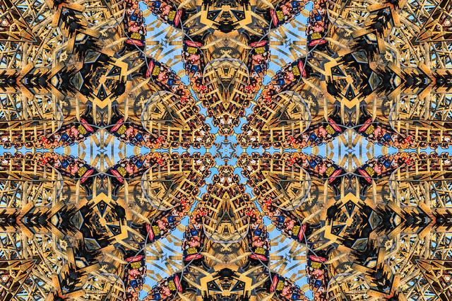 kaleidoscopic gold striker