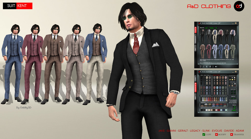 ! A&D Clothing – Suit -Kent-   NewRelease