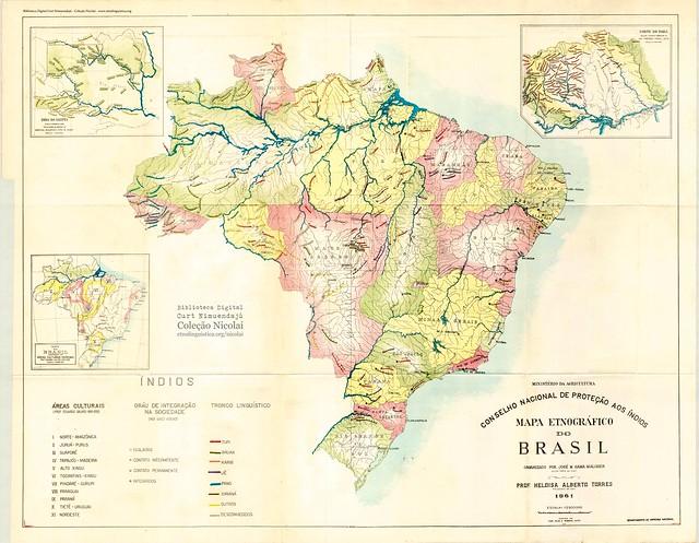 Mapa etnográfico do Brasil (Malcher 1964)