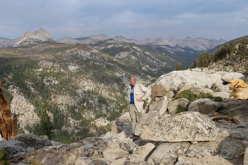 Me at the viewpoint spot looking up Big Arroyo, just north of Moraine Lake on the High Sierra Bypass Trail