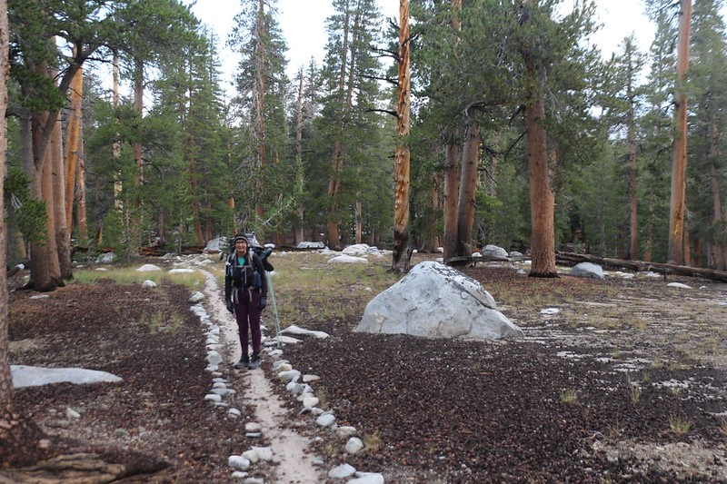 We started hiking west from Moraine Lake on the High Sierra Bypass Trail