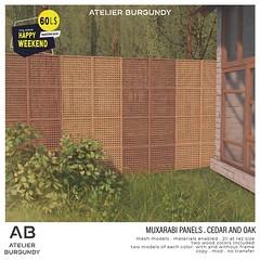 Atelier Burgundy . Muxarabi Cedar and Oak HW