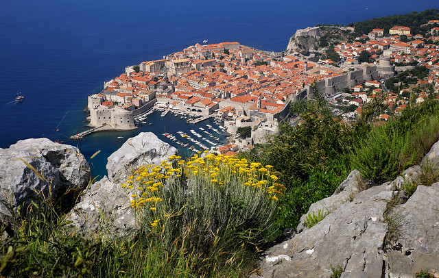 The rocks of Srđ mountain at 412 metres above Dubrovnik