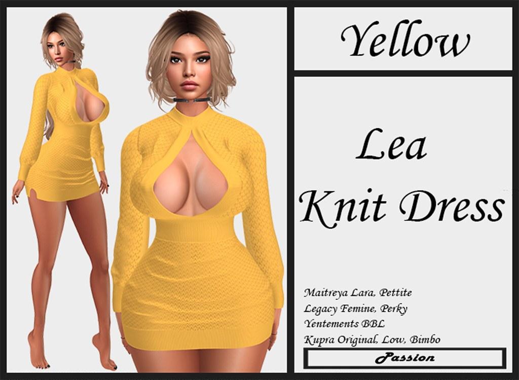 Passion-Lea-Knit-Dress-Yellow