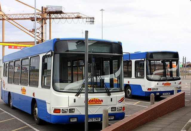 Buses and Cranes at Harwich International