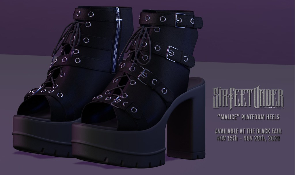 Six Feet Under – Malice Heels High Res Advert