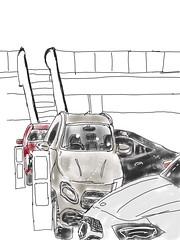 Mercedes Garage in Procreate