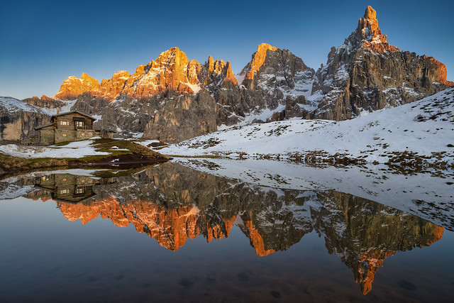 Laghetto Baita Segantini, Dolomiti
