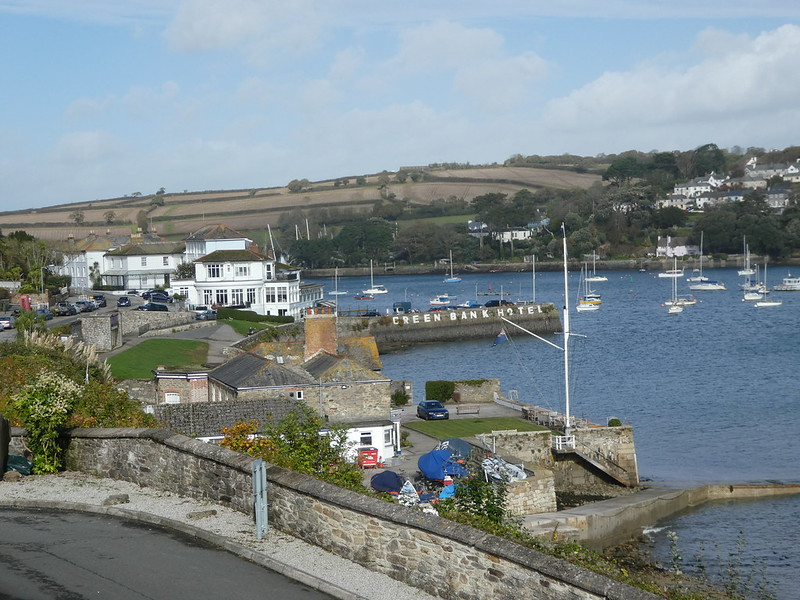 Views of the Fal River from the top of Falmouth's high street