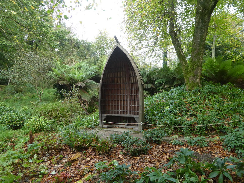 Boat seat in Glendurgan Garden, Cornwall