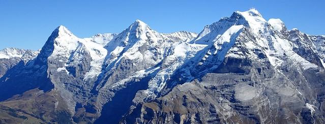 Des del Schilthorn (Eiger-3970m, Mönch-4107m, Jungfrau-4158m)