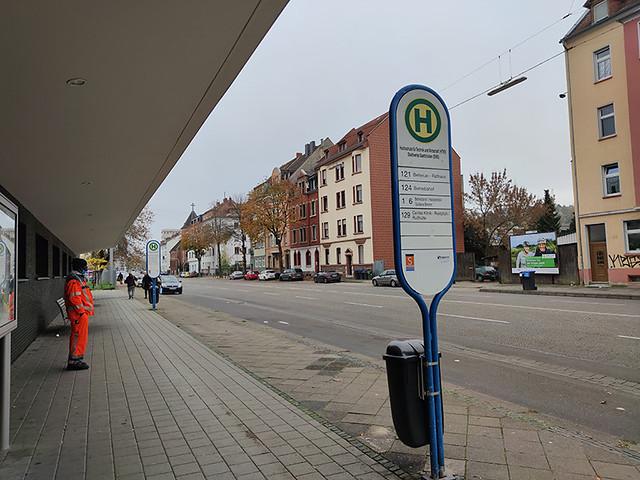HTW/SWS Haltestelle Richtung Betriebshof