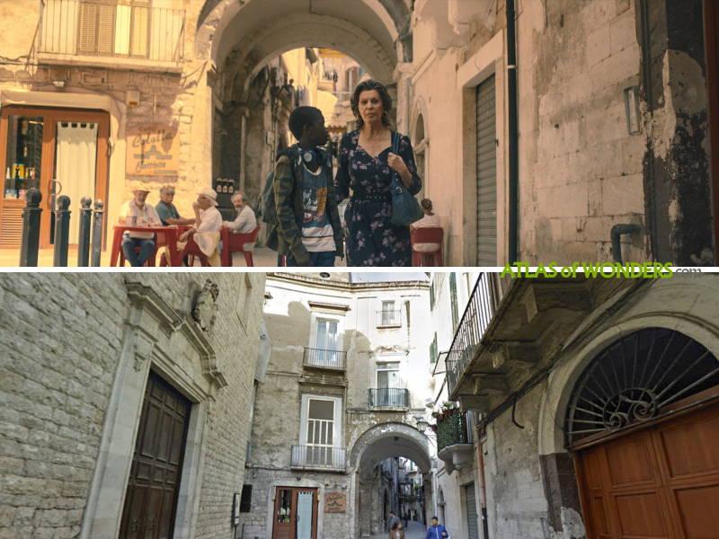 Sophia Loren filming in Bari