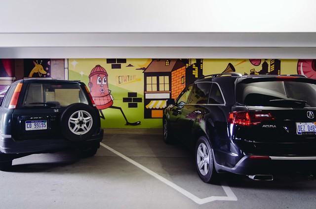 Detroit's Street Art Parking garage 2015
