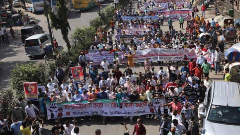 Buddhis Bangladesh Protes Kekerasan pada Minoritas