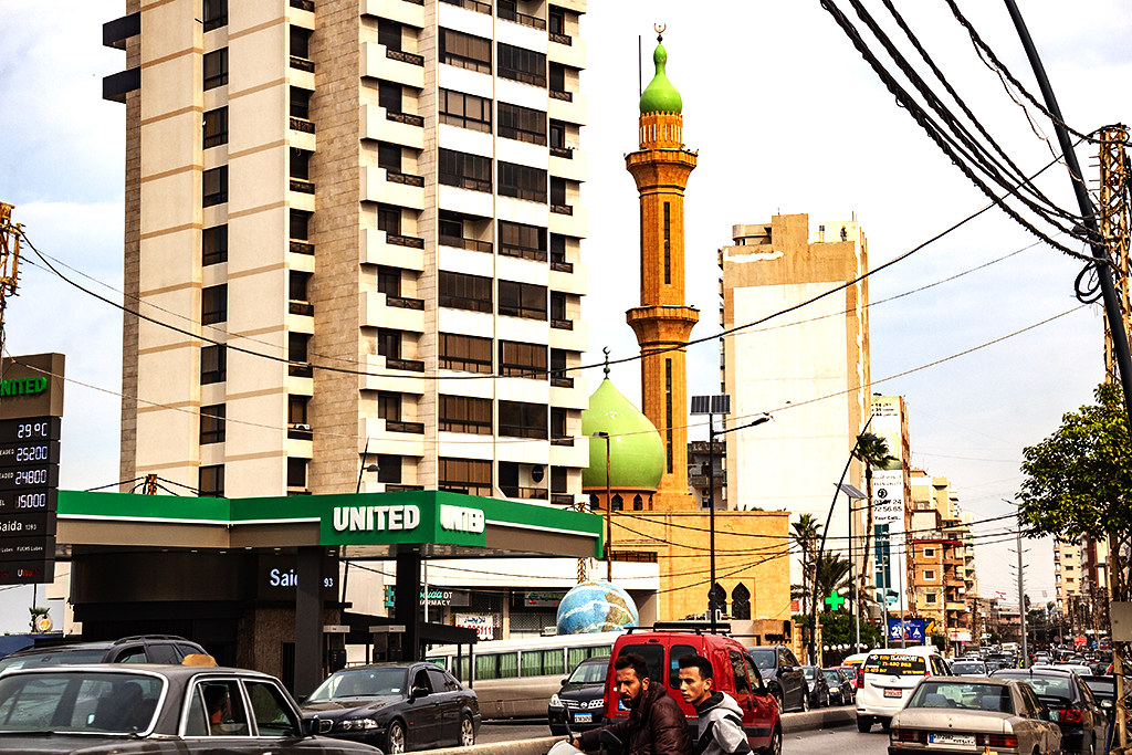 United gas station and mosque on 11-13-20--Sidon