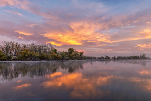 morning clouds reflections mist lake pond landscape lakechatfield chatfieldstatepark colorado landscapes