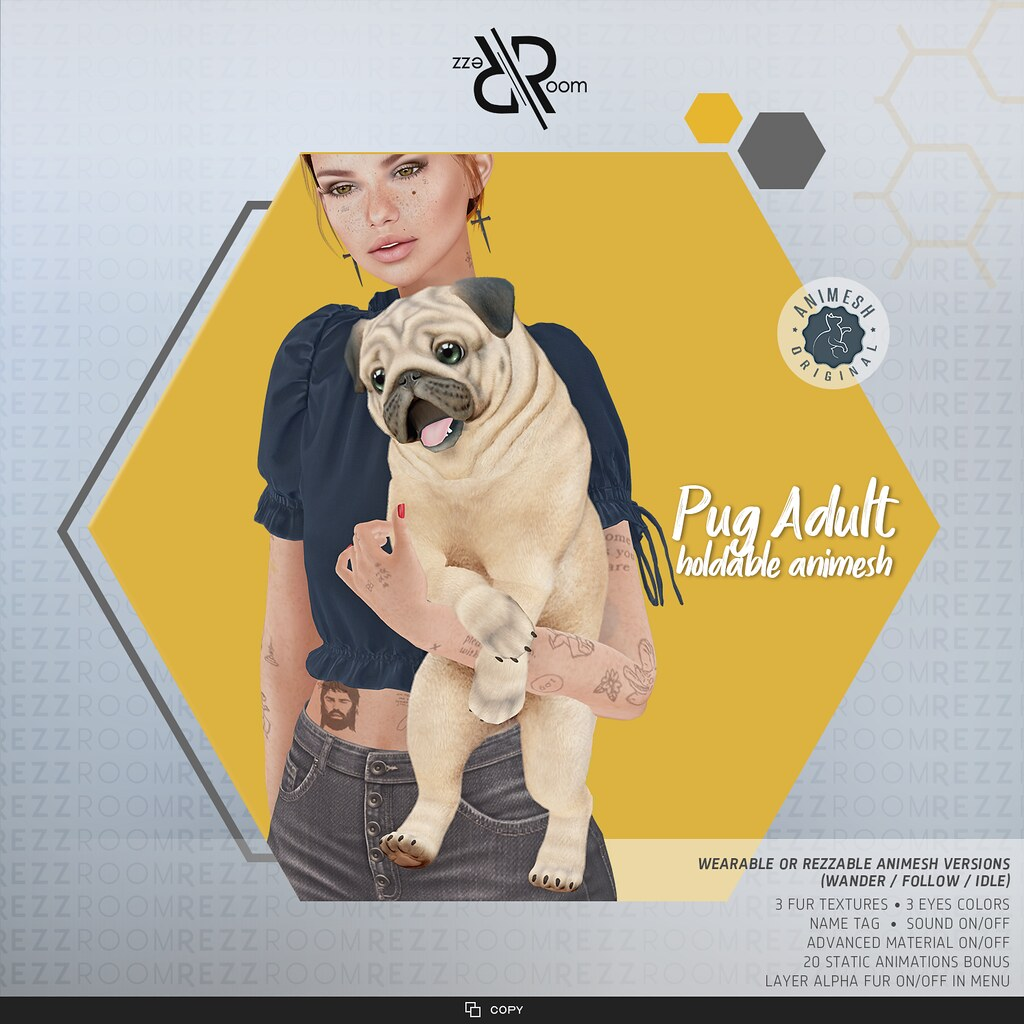 [Rezz Room] Pug Adult Animesh (Holdable)
