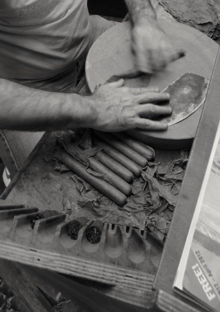 Cuban cigar maker.