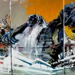 triptychon  Durchbruch der Gedanken,(Mauersrung)Öl auf Leinwand 210x100 2020