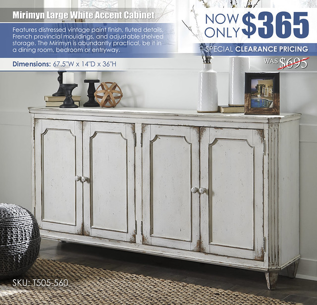 Mirimyn Large White Accent Cabinet_T505-560_Clearance