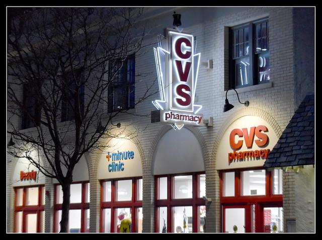 CVS Pharmacy on an Ann Arbor, Michigan Night