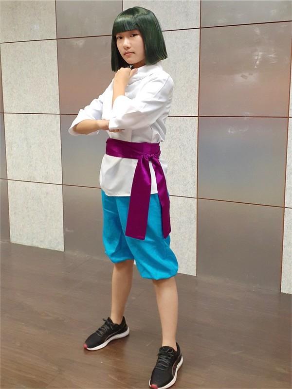 華語系學生扮演電影《宮崎駿》中的角色白龍。圖/陳宏駿攝