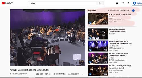 Detalle de donde se encuentra la reproducción automática de youtube en vídeos aleatorios. Aquí es donde se puede utilizar youtube para adivinar el futuro