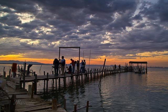 Photographers at sunset (Fotógrafos ao por do sol)
