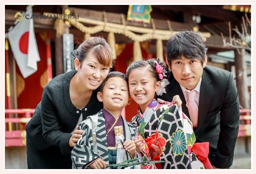 岩津天満宮で七五三と1/2成人式 家族写真 愛知県岡崎市