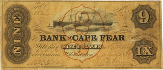 Bank of Cape Fear Branch at Salisbury $9 | by Numismatic Bibliomania Society
