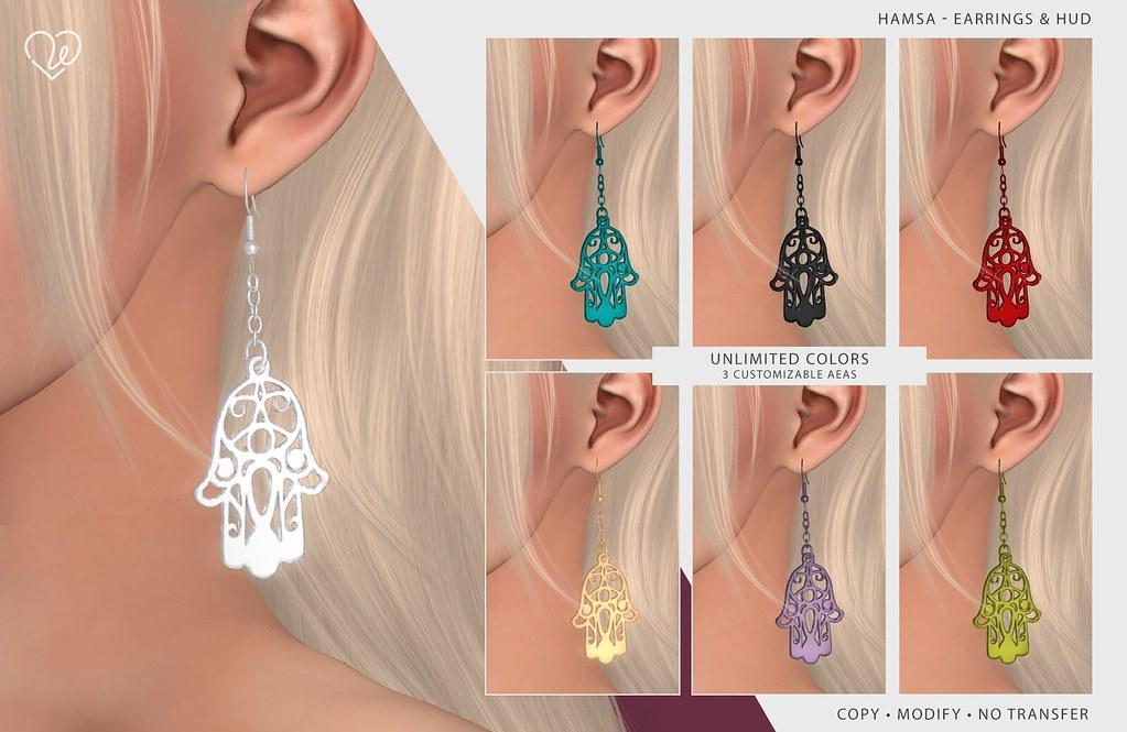 Group Gift - LW - Hamsa - Earrings & HUD
